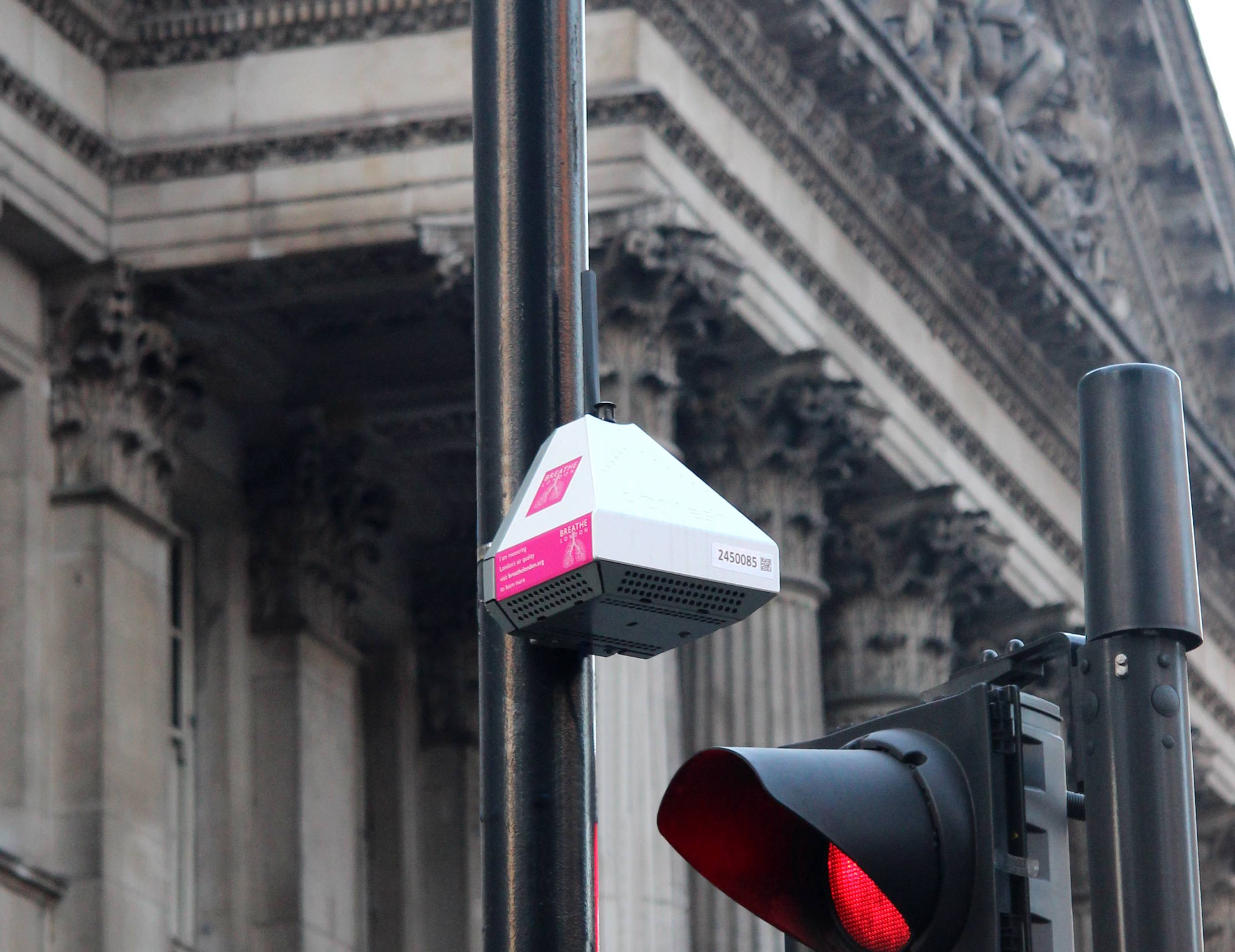 Air monitor in London street