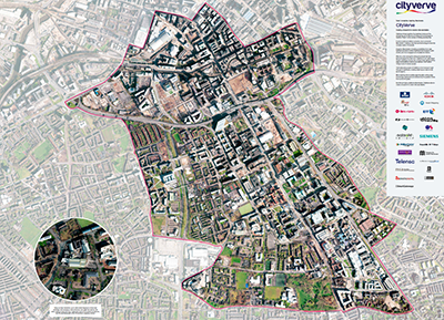 Manchester Corridor aerial imagery topography layer