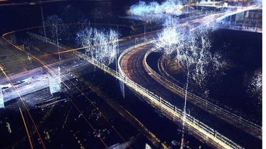 3D point cloud image of road infrastructure