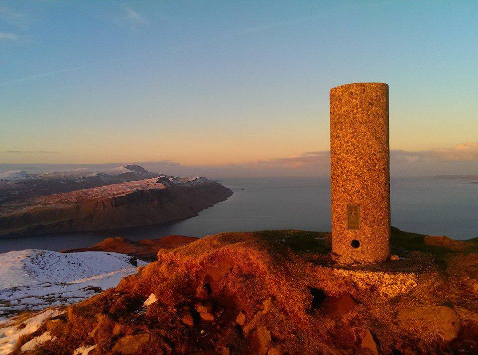 A 'Vanessa' trig pillar on the Isle of Skye, photographed by Scott MacLucas-Paton