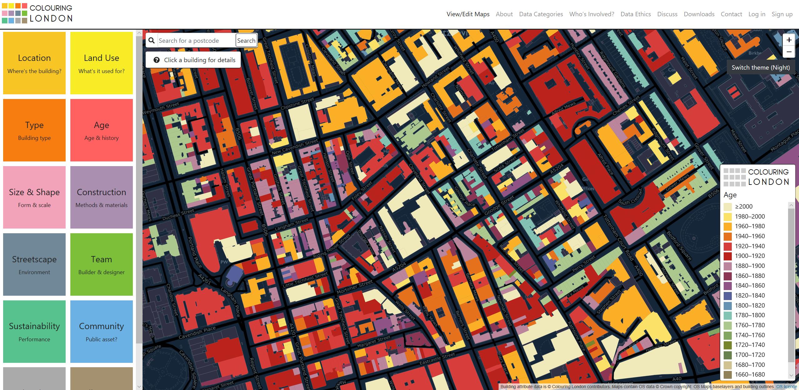 Screenshot of London for coloring.