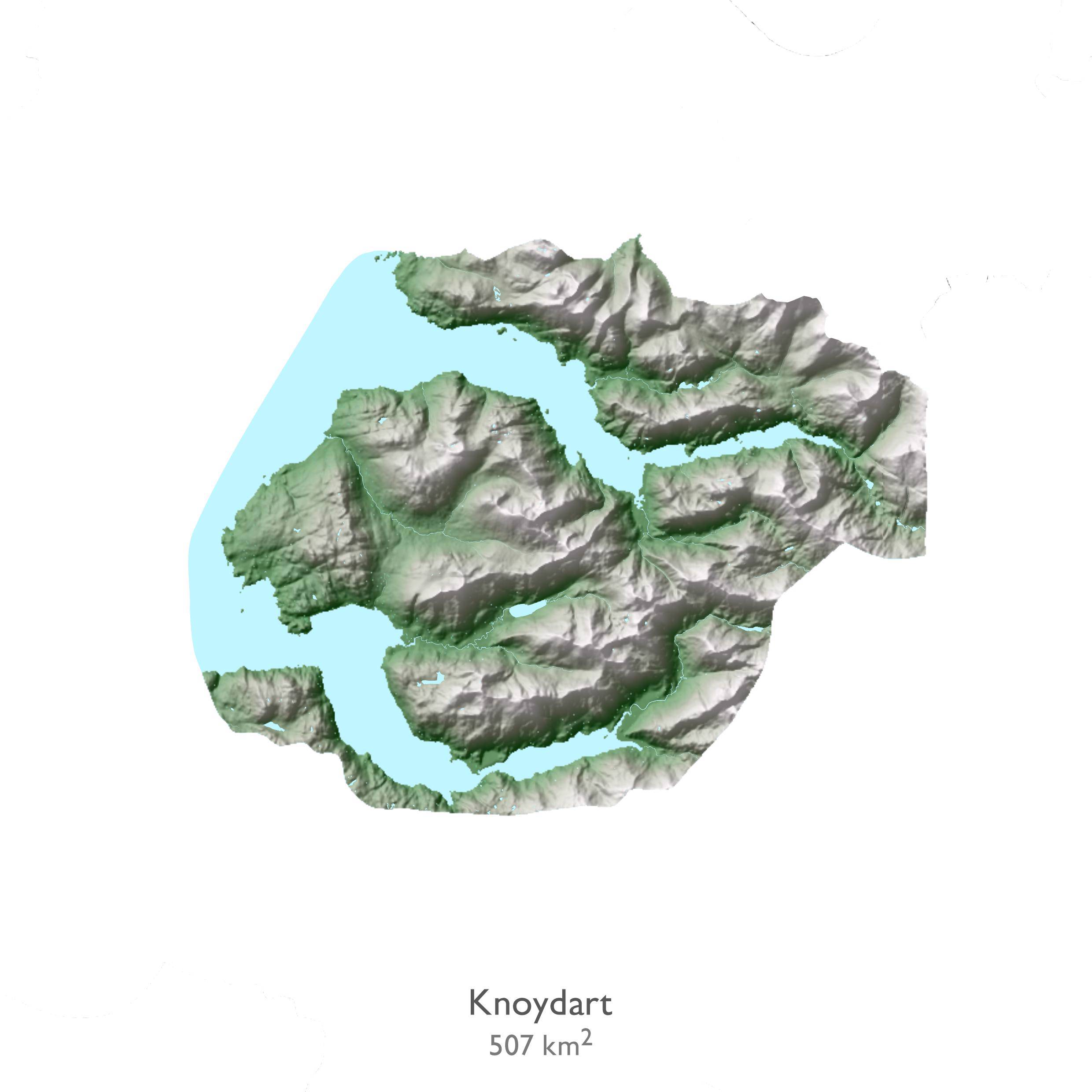 Data visualisation of Knoydart in Scotland.