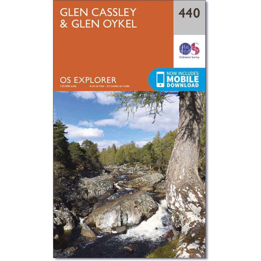Glen Cassley & Glen Oykel map