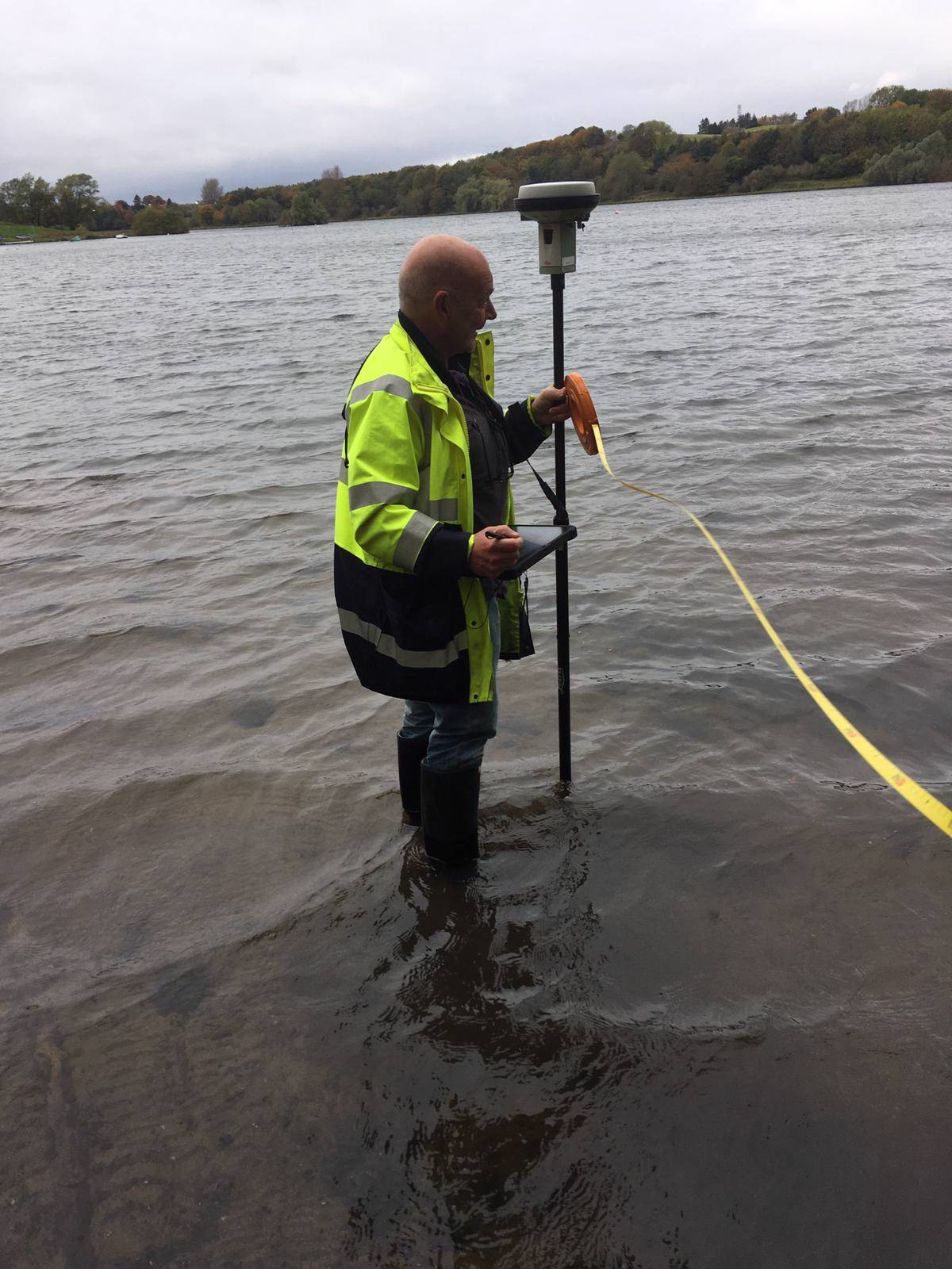 Surveying in Linlithgow Loch.