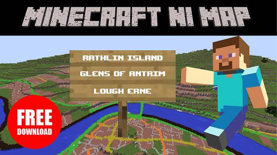 Minecraft map of Northern Ireland now available